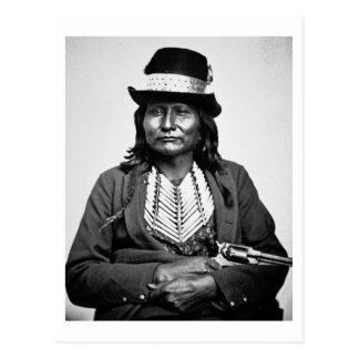 Chief Esatonyett, 1869 (b/w photo) Postcard