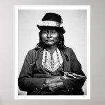 Chief Esatonyett, 1869 (b/w photo) Posters