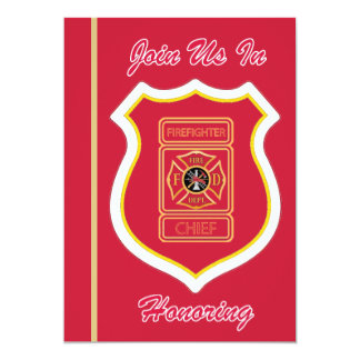 Chief Firefighter's Retirement Invitation