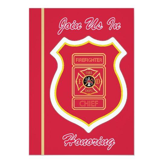 Chief Firefighter's Retirement Invitation
