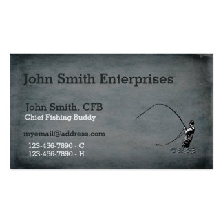 Chief Fishing Buddy Template Double-Sided Standard Business Cards (Pack Of 100)