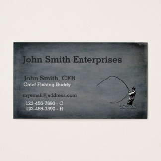 Chief Fishing Buddy Template Business Card