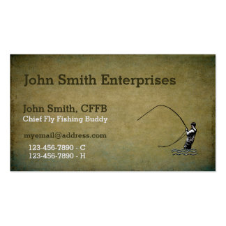 Chief Fly Fishing Buddy Template Double-Sided Standard Business Cards (Pack Of 100)
