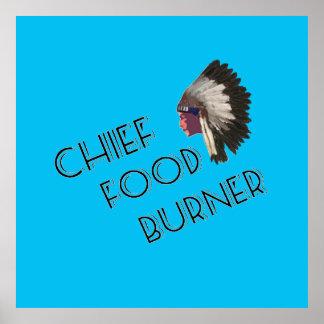 Chief Food Burner Vintage Posters