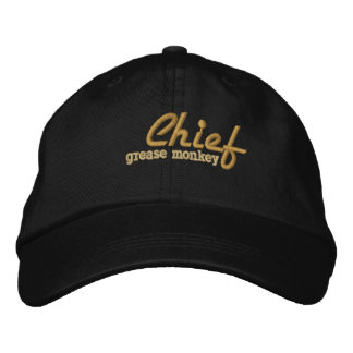 Chief Grease Monkey Embroidered Cap