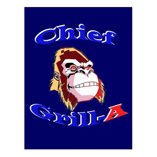 Chief Grill-A Postcard