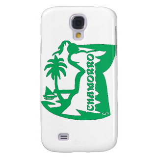 Chief holding a latte stone.  Guam seal. Samsung S4 Case