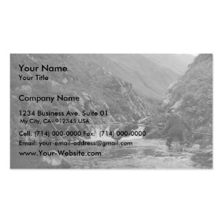 Chief Houdikoff fishing on Attu Double-Sided Standard Business Cards (Pack Of 100)