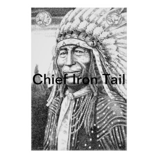 Chief Iron Tail 1 Posters - Prints