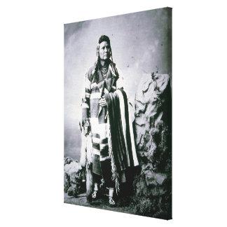 Chief Joseph (1840-1904) c.1880 (b/w photo) Canvas Print