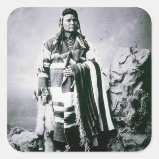 Chief Joseph (1840-1904) c.1880 (b/w photo) Square Sticker