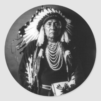 Chief Joseph Classic Round Sticker