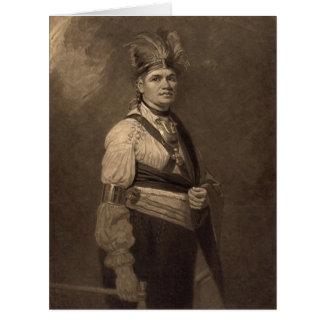 Chief Joseph Fayadaneega 1776 Card