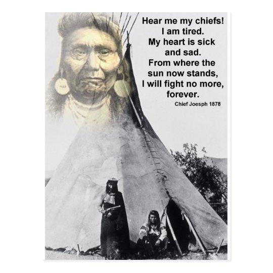 Chief Joseph hear me Postcard