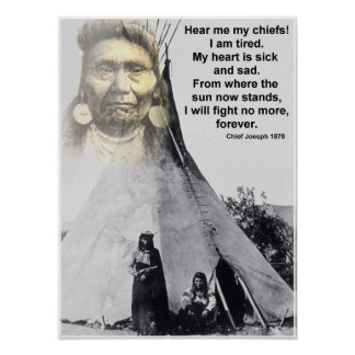 Chief Joseph hear me Poster