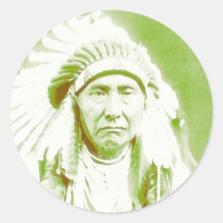 Chief Joseph Native American Leader Classic Round Sticker