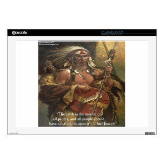 """Chief Joseph & Nature Quote Gifts Tees & Cards 17"""" Laptop Decal"""