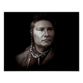 Chief Joseph of the Nez Perce American indian Poster