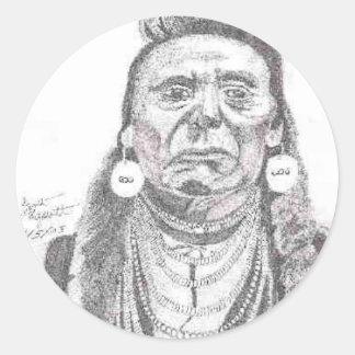 CHIEF JOSEPH.PNG Chief Joseph drawing Classic Round Sticker