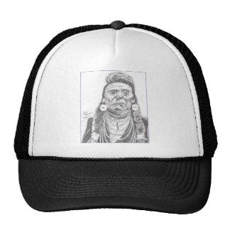 CHIEF JOSEPH.PNG Chief Joseph drawing Mesh Hat