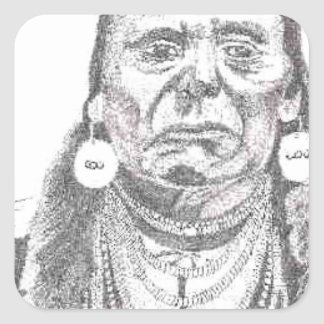 CHIEF JOSEPH.PNG Chief Joseph drawing Square Sticker