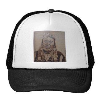 Chief Joseph wood burning Trucker Hats