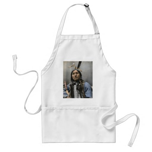 Chief Left Hand Bear Chief 1898 - Vintage Adult Apron