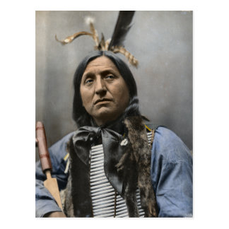 Chief Left Hand Bear Chief 1898 Vintage Postcard