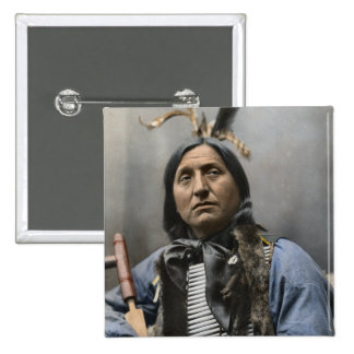 Chief Left Hand Bear Ogala Sioux Vintage Pinback Button