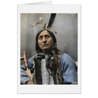 Chief Left Hand Bear Ogala Sioux Vintage Card