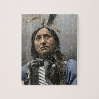 Chief Left Hand Bear Ogala Sioux Vintage Puzzles