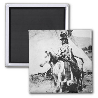'Chief Looking Glass', c.1875 (b/w photo) Magnet