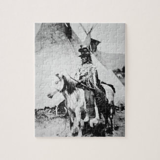 'Chief Looking Glass', c.1875 (b/w photo) Puzzle