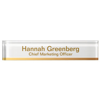 Chief Marketing Officer - Gold Desk Name Plate