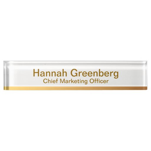 Chief Marketing ficer Gold Desk Name Plate 1