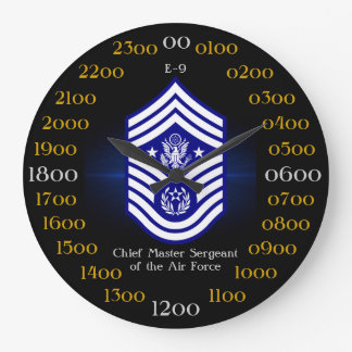 Chief Master Sergeant of the Air Force E-9 Clocks