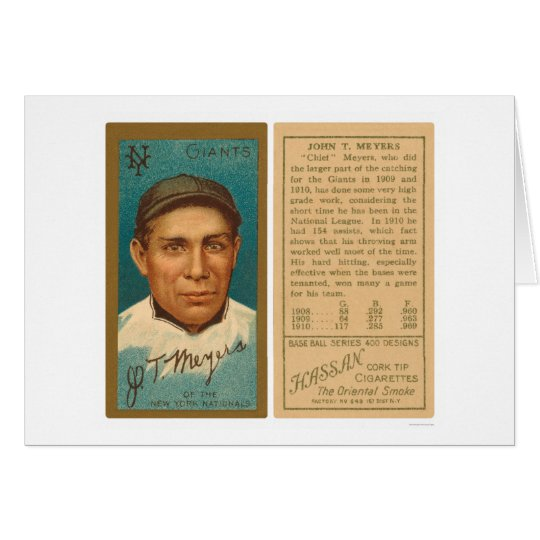 Chief Meyers Giants Baseball 1911 Card