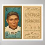 Chief Meyers Giants Baseball 1911 Poster