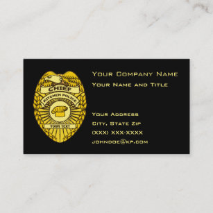 Police business cards 500 police business card templates chief of kitchen police badge business card colourmoves