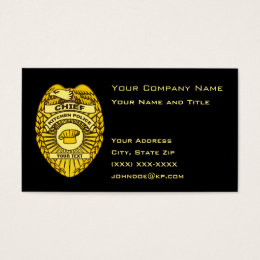 Chief Of Police Business Cards Templates Zazzle - Police business card templates