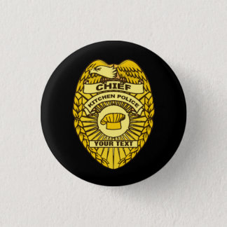 Chief Of Kitchen Police Badge Button