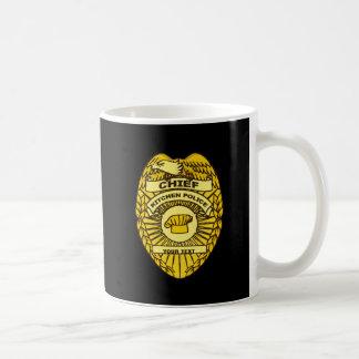 Chief Of Kitchen Police Badge Coffee Mug