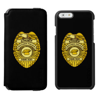 Chief Of Kitchen Police Badge iPhone 6/6s Wallet Case
