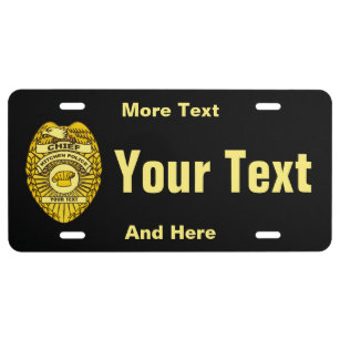 Chief Of Kitchen Police Badge License Plate