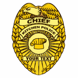 Chief Of Kitchen Police Badge Statuette