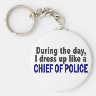 Chief Of Police During The Day Key Chain
