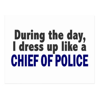 Chief Of Police During The Day Postcard