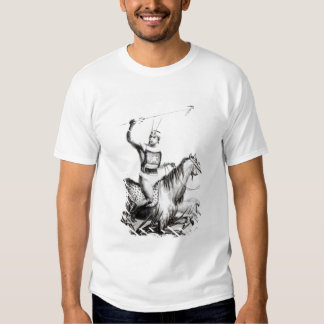 Chief of the Charruas, engraved by C. Motte Tee Shirt