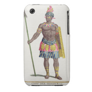 Chief of the Hondurans, 1780 (coloured engraving) iPhone 3 Case-Mate Case