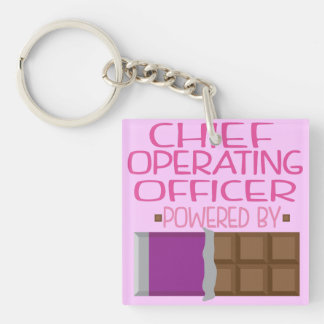 Chief Operating Officer Chocolate Gift for Woman Keychain